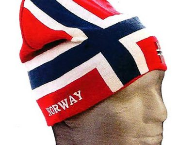 Knit Norway flag hat