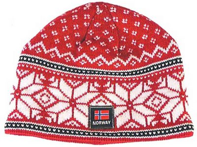 Knit snowflake hat, redsnowflake-red