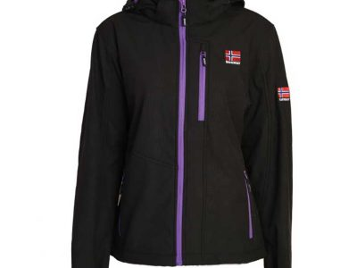 Ladies, Soft Shell jacket, black/purple