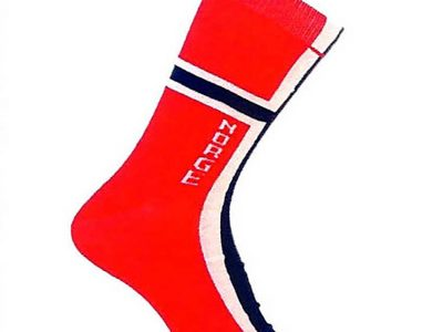 Norway flag sock